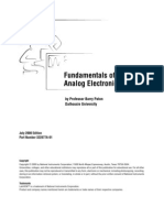 Fundamentals of Analog Electronics