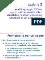 Introduzione al linguaggio C/C++