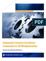 Architectural Considerations for SAP MII Implementations