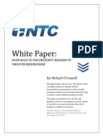 Nationwide Title Clearing White Paper - Four Ways to Use Property Records to Uncover Hidden Risks