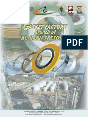 Gasket Catalogue | Pipe (Fluid Conveyance) | Chemistry