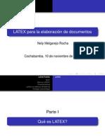 LATEX para la elaboracíon de documentos