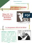 Thème 122 - L'Analyse Des Déterminants Des Fluctuations de La Croissance 2014-2015