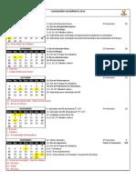 Calendário Acadêmico 2010_2