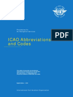 ICAO abbreviations and Codes Doc.8400