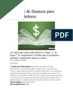 10 Libros de Finanzas Para Emprendedores