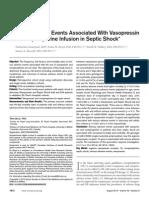 Vasopresina efectos adversos