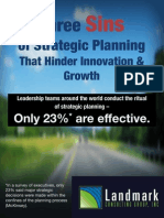 3 Sins of Strategic Planning that Hinder Innovation and Growth