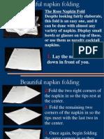 Napkin Foldings o Impress