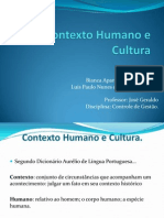 Contexto Humano e Cultura
