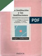 Kaes R y Otros La Institucion y Las Instituciones (1)