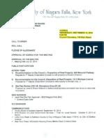 Niagara Falls Planning Board agenda - Sept. 10, 2014