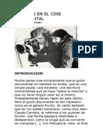 El Guion en El Cine Documental