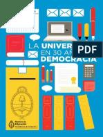 La Universidad en 30 Años de Democracia
