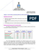 IMD Monsoon Update 15-08-14