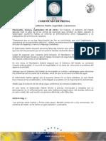 09-09-2010 El Gobernador Guillermo Padrés en entrevista aseveró que el gobierno aplicara todo el peso de la ley contra las personas que cometan un delito, al referirse al enfrentamiento entre trabajadores y extrabajadores de la minera de Cananea. B091031