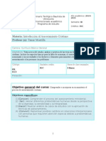 Programa de Introducción Al Asesoramiento- IB- 2014- 2015
