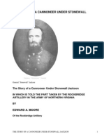 The Story of a Cannoneer Under Stonewall Jackson by Moore, Edward A.