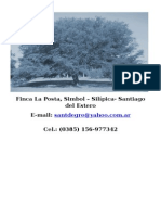 Algarroba Finca La Posta Carta Presentacion