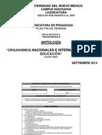 Antologia Organismos 15-01-2
