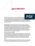 Exxon Mobil Social Corporate Responsability