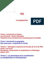 TES Programme Et Épreuves