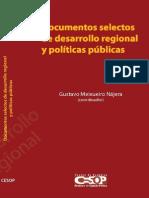 Documentos Selectos de Desarrollo Regional Politicas Publicas