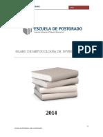 Asuncion Lezcano -Silabo de Metodologia de La Investigacion