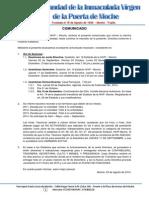 Comunicado 29-08-2014