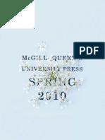 McGill-Queen's University Press - Spring 2010 Catalog