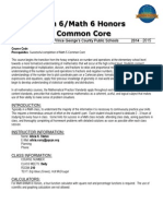 math 6 and math 6 honors common core syllabus 2014-2015