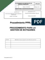 PPRL-007 Proced.gestión Botiquines