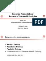 Exercise Prescription Review