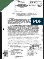 Memorandum for the Chief of Staff. US War Department. 1943.