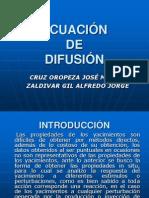Ecuacion de Difusion