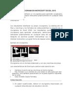 Un Crucigrama en Microsoft Excel 2010