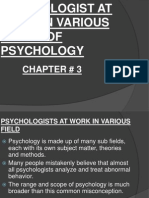 Chapter#3 Fields of Psychology