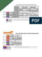 Activity Schedule Grid