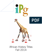 IPG Fall 2014 African History Titles