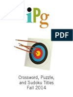 IPG Fall 2014 Crossword, Puzzle & Sudoku Titles