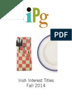 IPG Fall 2014 Irish Interest Titles