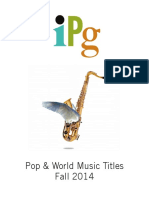 IPG Fall 2014 Pop & World Music Titles