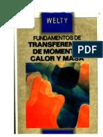 q0z4 Welty James R. Fundamentos de Transferencia de Momento Calor y Masa SIN