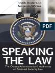 Speaking the Law (Chapter 3), by Kenneth Anderson and Benjamin Wittes