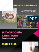 La Mayordomía Cristiana Por Gc Para Ssj 2014