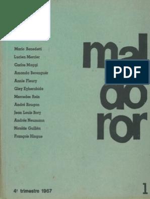 Revista Maldoror Número 1pdf Charles Baudelaire