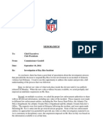 Roger Goodell's Letter to NFL Owners