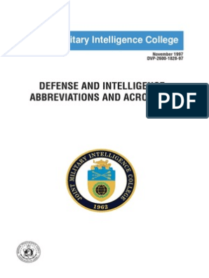 Defense and Intelligence Abbreviations and Acronyms | United
