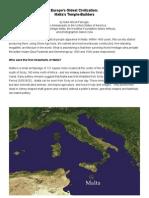 Europes Oldest Civilization MALTA
