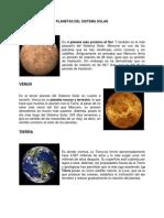 Planetas Del Sistema Solar (Conceptos)